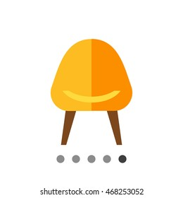 Armchair flat icon
