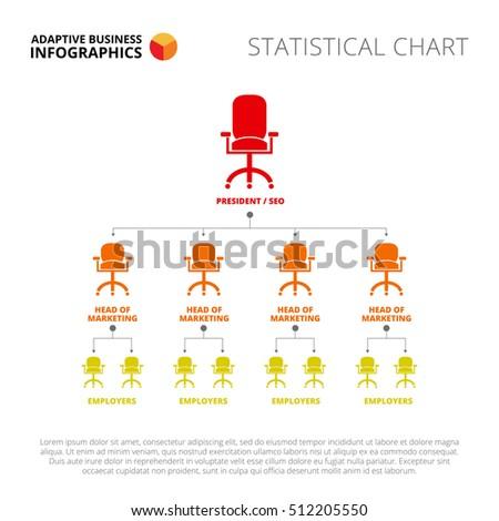 armchairs flowchart slide template stock vector royalty free