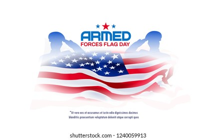 Armed forces day template, banner, poster design