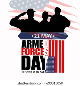 Armed forces day template poster design. Vector illustration of background for Armed forces day.Illustration of Armed forces day of USA.