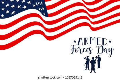 Armed forces day in USA. american holiday design vector illustration