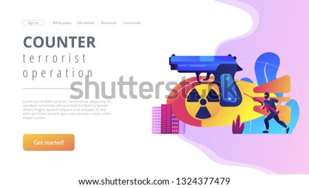 Armed Terrorist Mask Nuclear Bomb Weapon Stock Vector (Royalty Free