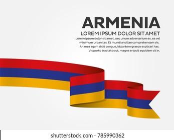 Armenia flag on a white background