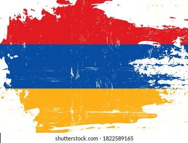 Un drapeau grunge arménien pour vous
