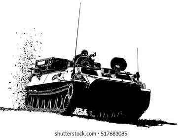 Armored personnel carrier military vehicle
