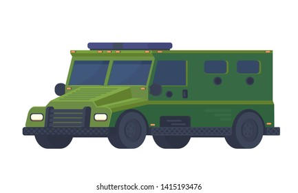 Armored police van heavy truck. Swat car Special military off road truck.