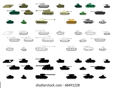 Armored tanks first and second World Wars