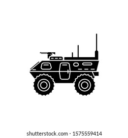 Armored vehicle icon template. Vector illustration