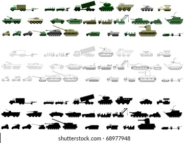 Armored vehicles First and Second World War