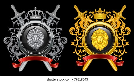 ?oat of arms. Vector illustration.