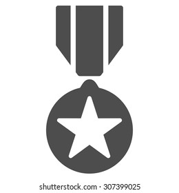Army award icon. Vector style is flat symbols, gray color, rounded angles, white background.