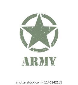 Army badge star vector