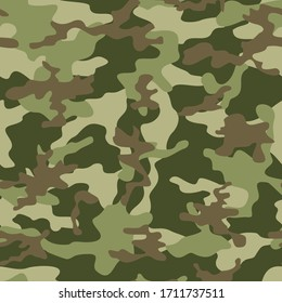 Army camo texture repeat print vector textile background.