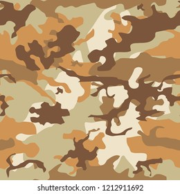 Army camo vector - seamless camouflage texture. Military fashion style.