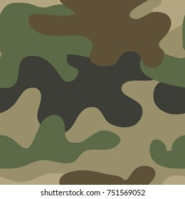 Army camouflage pattern for military design. Fashion vector illustration
