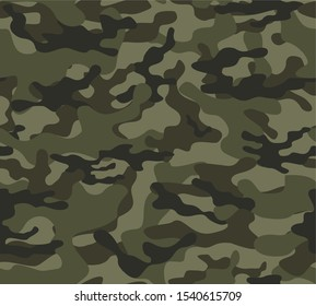 Army camouflage seamless vector pattern for print. Modern.