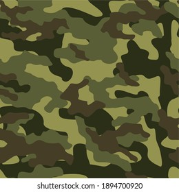 army camouflage vector seamless print