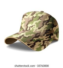 Army Cap. Vector.