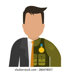 Army design over white background ,vector illustration.