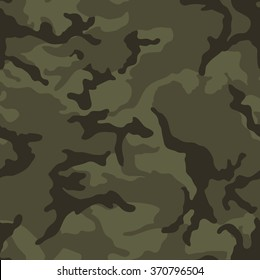 Army green camouflage seamless pattern