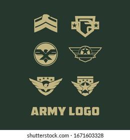 Army Logo Design Vector Template