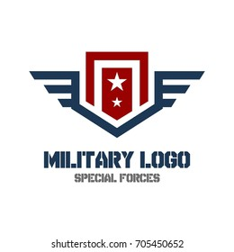 Army logo template. MIlitary logo concept