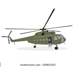 Army medic chopper illustration