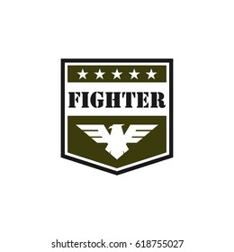 Army and military logo design vector