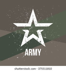Army - military stamp, label, sign. Vector art.