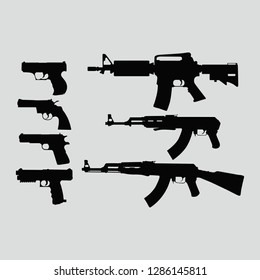 army military weapons vector