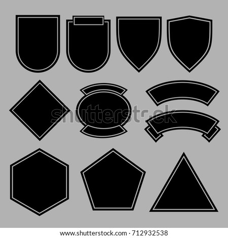 army patches military badges template design stock vector royalty