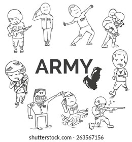 Army set. EPS10 vector illustration