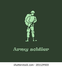 Army soldier doodle icon