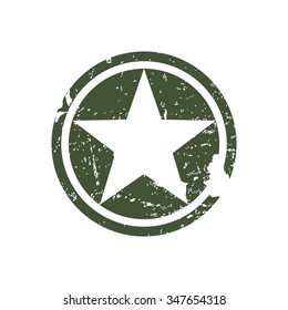 Army star, war symbol, vector