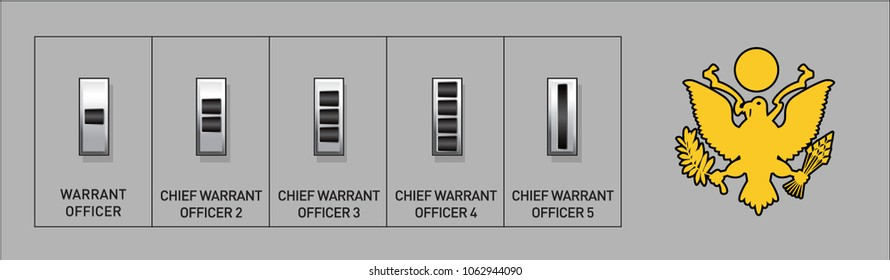 Army Warrant Officer Rank Insignia - Isolated Vector Illustration