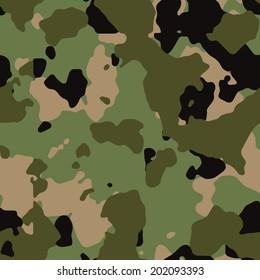 Army woodland seamless camo texture vector