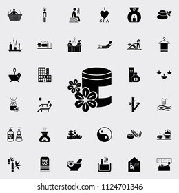aroma of oil icon. Detailed set of SPA icons. Premium quality graphic design sign. One of the collection icons for websites, web design, mobile app on colored background