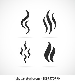 Aroma smell vector icon set isolated on white background