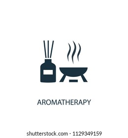 aromatherapy creative icon. Simple element illustration. aromatherapy concept symbol design from Beauty collection. Can be used for web and mobile.