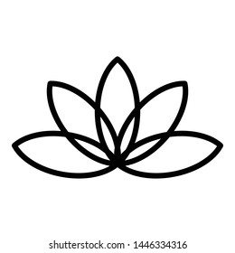 Aromatic lotus icon. Outline aromatic lotus vector icon for web design isolated on white background