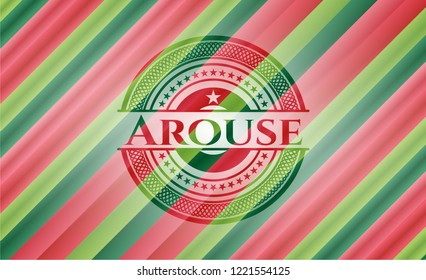 Arouse christmas badge background.