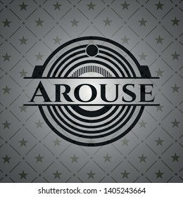 Arouse dark badge. Vector Illustration. Detailed.