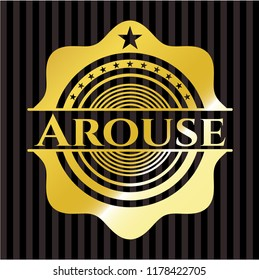 Arouse gold shiny emblem