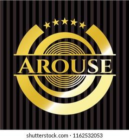 Arouse golden badge or emblem