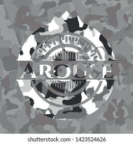 Arouse on grey camo texture