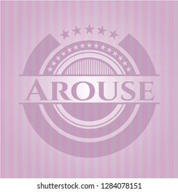 Arouse pink emblem. Retro