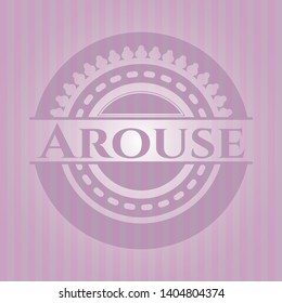 Arouse pink emblem. Vintage. Vector Illustration. Detailed.