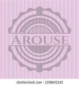 Arouse retro style pink emblem