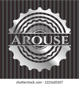 Arouse silver emblem or badge