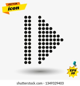 arow flat icon illustration. arow isolated sign. arow vector illustration.